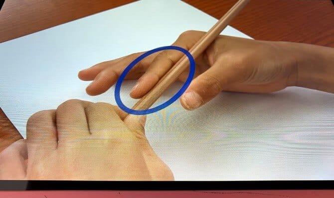 スマイルゼミ 鉛筆の持ち方