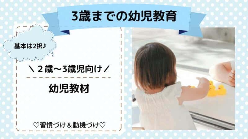 2歳~3歳向け通信教育