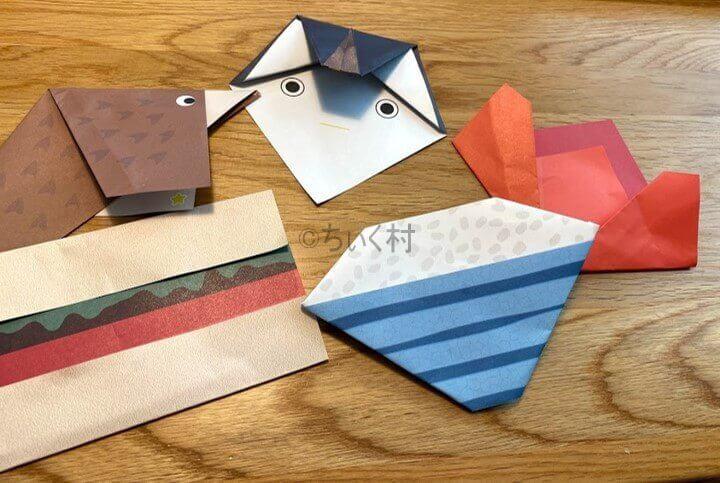 ワンダーボックスペーパーラボの折り紙完成品