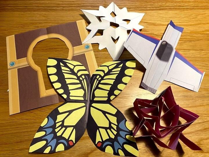 折り紙で作った娘の作品